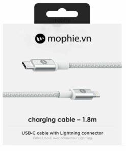 cáp sạc mophie usb c to lightning 1.8m